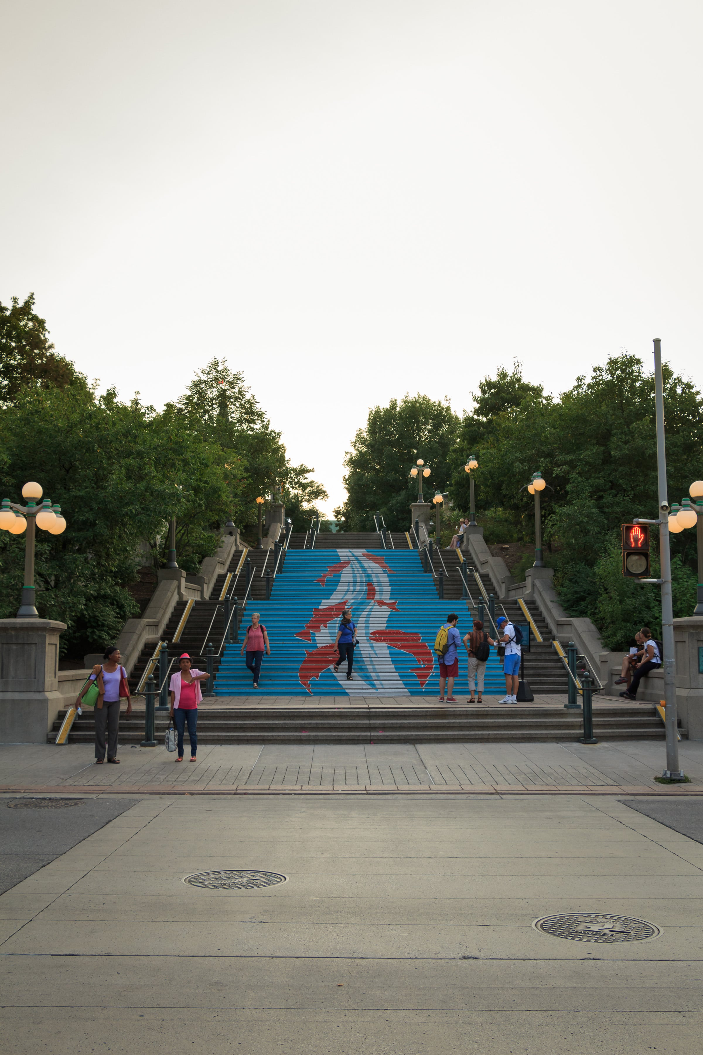"Ottawa's ""jumping salmon"" stairs"